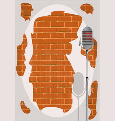 Stand up night wall vector