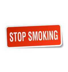 Stop smoking square sticker on white vector