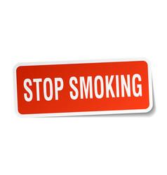 Stop smoking square sticker on white vector