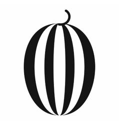 Striped melon icon simple style vector