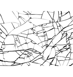 Surface broken glass texture sketch shattered vector