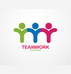 Teamwork and friendship concept created with vector