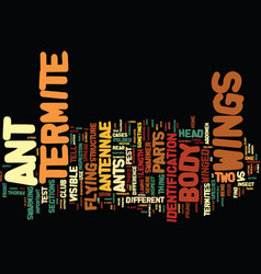 Termite text background word cloud concept vector