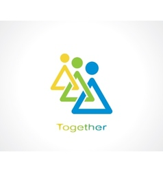 together vector image