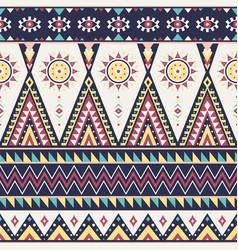Tribal geometric seamless pattern vector