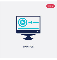 two color monitor icon from blogger and vector image