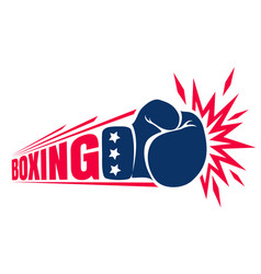 vintage logo for boxing vector image