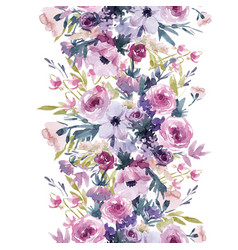 Watercolor spring floral pattern vector