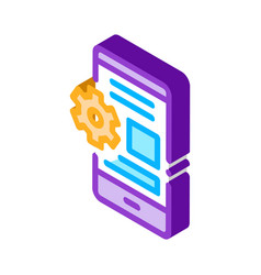 Web site adaptive for phone isometric icon vector