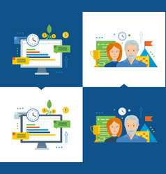 Workflow and efficient project management growth vector