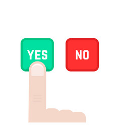 Yes or no buttons like dilemma vector