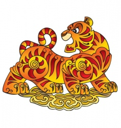 Chinese tiger vector image vector image