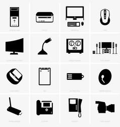 computer peripherals vector image vector image