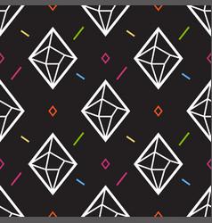diamond or crystal seamless pattern geometric vector image vector image