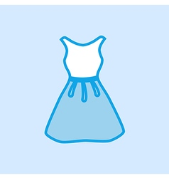 Dress Icon Simple Blue vector image vector image