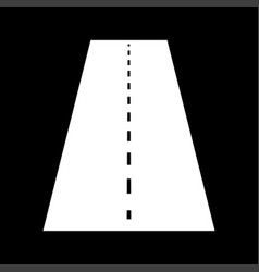 road white color icon vector image vector image