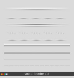 set of dividers isolated on grey background vector image vector image