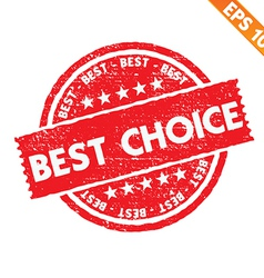Stamp sticker best choice collection - - EP vector image