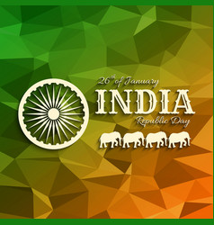 26th of january india republic da vector image
