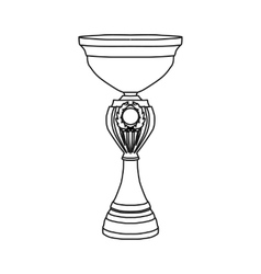 Award tennis trophy cup icon outline style vector image