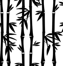 Black bamboo pattern vector image vector image