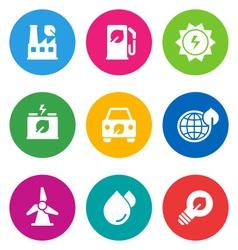 color environmental icons vector image vector image