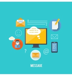 Concept of message and email technology vector image