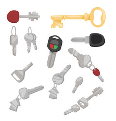 Door key access household tool vector