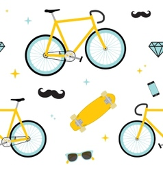 Hipster objects pattern vector image