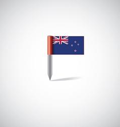new zealand flag pin vector image