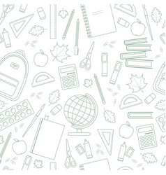 seamless linear school pattern vector image vector image