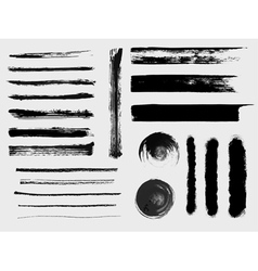 Set of grungy brushes and textures vector image vector image