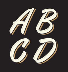 vintage letter abcd vector image vector image