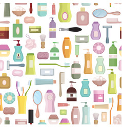 beauty care related set background hygiene symbol vector image