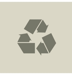 Gray recycle sign or icon vector image