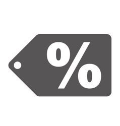 Percent label or tag icon image vector