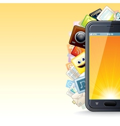 Smart Phone Apps Poster vector image vector image