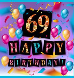 69 years anniversary vector