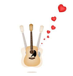 A Beautiful Guitar Playing A Love Song vector image