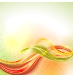 Abstract orange wave background vector