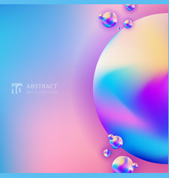 abstract trendy 3d circle gradient color on vector image