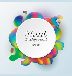 abstract trendy white circle label on vibrant vector image
