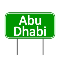 Abu Dhabi road sign vector