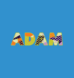 Adam concept word art vector