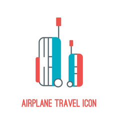 airplane travel icon vector image