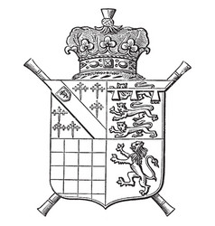 Arms of the duke of norfolk is a escutcheon vector