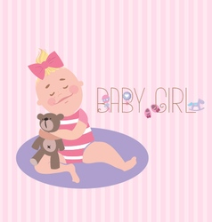 Baby Girl Poster vector image