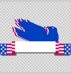 background featuring american eagle and stars and vector image