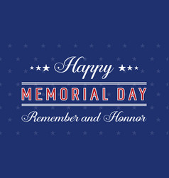 Background style for memorial day vector