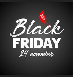 black friday flat designed banner vector image